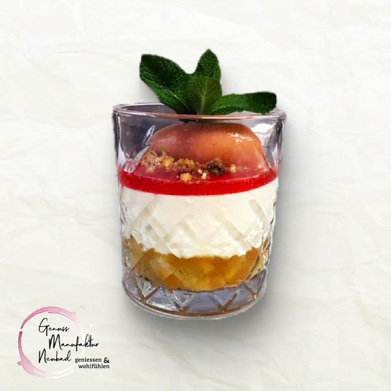 Schicht-Desser im Glas